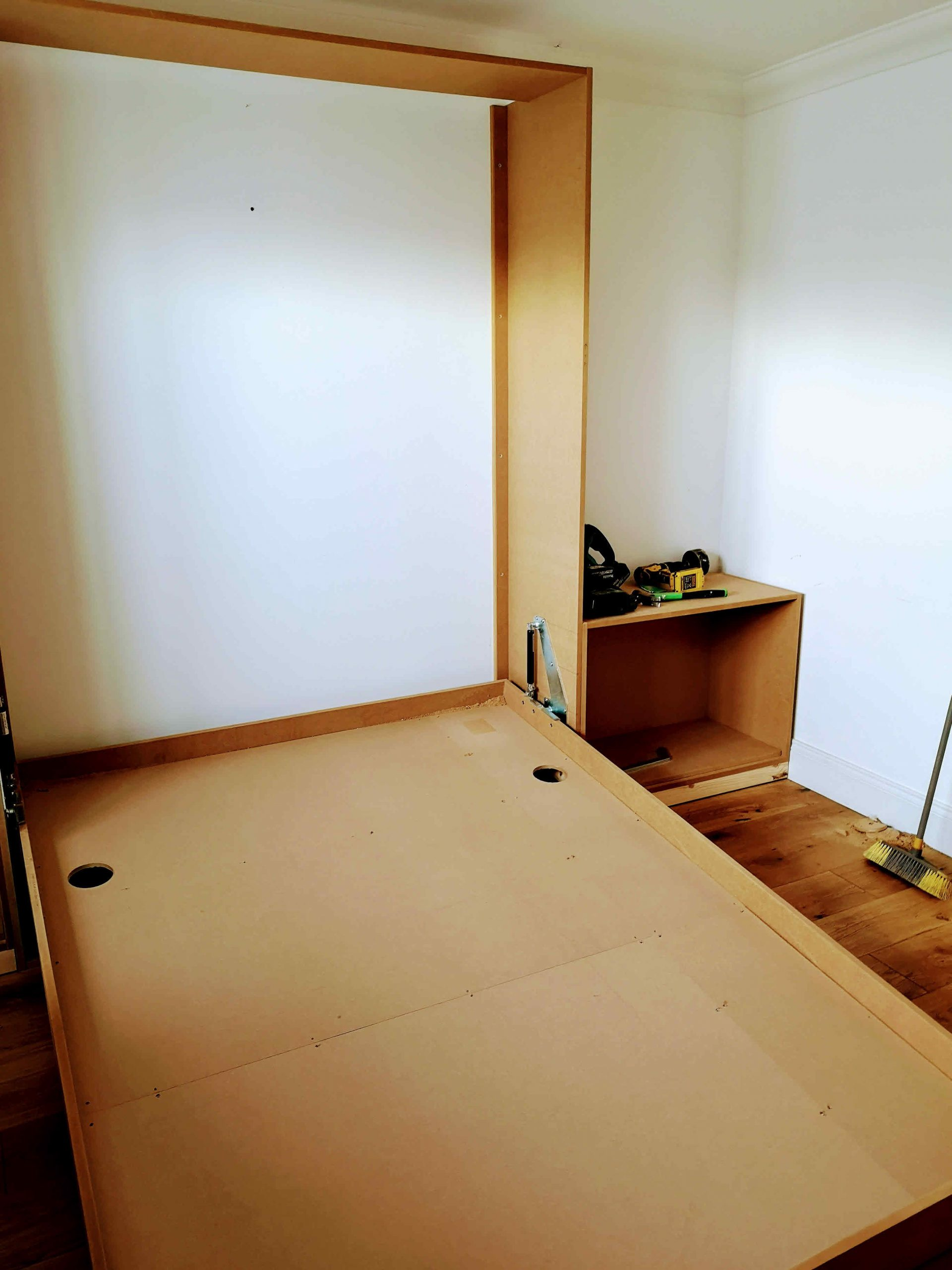 MDF wall bed construction